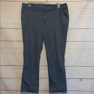 LEE Essential Chino Slacks Pants Gray Sz 16 Short